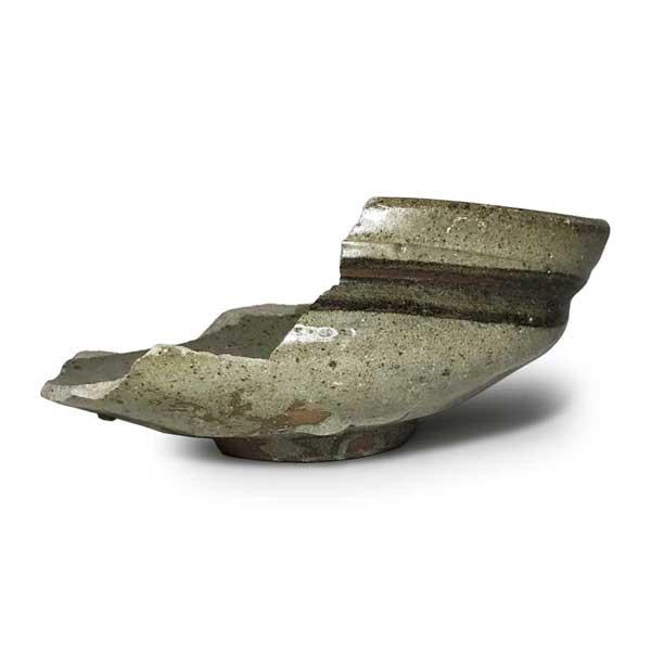 絵唐津沓形茶碗(松浦系唐津 甕屋の谷窯産)