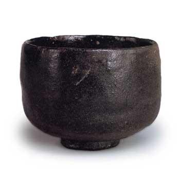 長次郎の茶碗 黒茶碗 銘大クロ