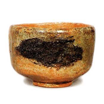 鶴 ぬえ 赤楽茶碗